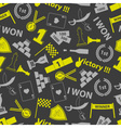 flawless victory symbols seamless color pattern vector image