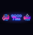 good time collection neon signs good times vector image vector image