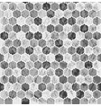 halftone hexagon pattern vector image