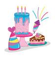 happy birthday cartoons vector image vector image