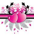 heart valentine vector image vector image