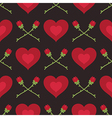 hearts and roses pattern vector image