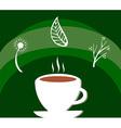 Herbal tea label vector image vector image