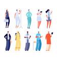 hospital team woman medical uniform health vector image