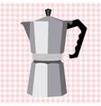 italian geyser coffee maker vector image vector image