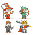 mage warlock archer sharpshooter warrior king vector image vector image