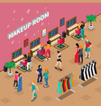 makeup room fashion isometric vector image vector image