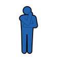 man thinking icon vector image