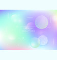 memphis gradient background with liquid shapes vector image