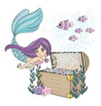 mermaid diamond sea travel clipart color vector image vector image