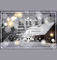 merry christmas and happy new year concept winter vector image vector image