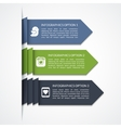 Modern arrow infographic elements vector image vector image