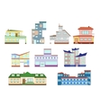 modern houses set vector image