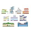 modern houses set vector image vector image