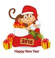 monkey symbol of 2016 year vector image