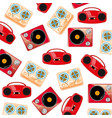 old-time players of the music pattern vector image