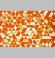 orange mosaic triangle prism background warm tone vector image