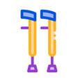 orthopedic crutch medical equipment icon vector image