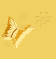 paper cut out butterfly background vector image vector image