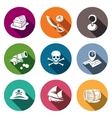 Pirates flat Icon set vector image