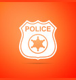 police badge icon sheriff badge sign vector image vector image