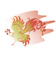 red fire rooster as symbol of new year eps10 vector image