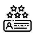 review stars icon outline vector image vector image