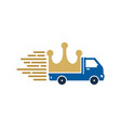 royal delivery logo icon design vector image