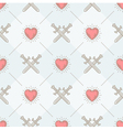 Seamless background with swords and hearts vector image vector image