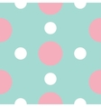 Seamless Pattern with circle white and pink dots vector image vector image