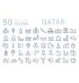 set line icons qatar vector image vector image