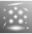 set of glowing light bursts with sparkles