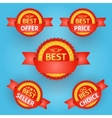 Set of red labels for any purpose vector image vector image