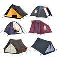 Set of tourist tents vector image vector image