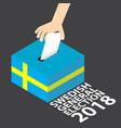 swedish general election 2018 vector image vector image