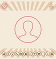 symbol of user icon in circle profile line icon vector image