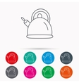 Teapot icon Kitchen kettle sign vector image vector image