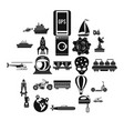 technol icons set simple style vector image