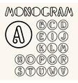 Vintage Art Nouveau font for your monogram vector image