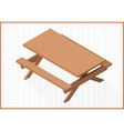 wooden table 3d vector image