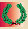 wreath and ribbon vector image vector image