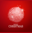 xmas greeting card with abstract christmas ball vector image vector image