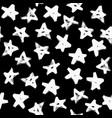 grunge stars pattern brush strokes vector image