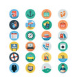 Hotel and Restaurant Flat Colored Icons 2 vector image