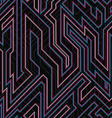 neon curve seamless texture vector image