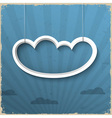 3d white cloud on grunge background vector image