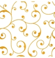 Abstract gold seamless vintage pattern vector image