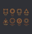 abstract logo or emblems set vector image