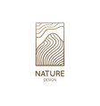 abstract nature logo mountain landscape icon vector image vector image