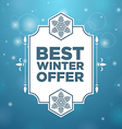 Best winter offer in beautiful frame vector image vector image